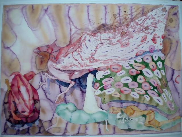 39 Lymfkörtlar Akvarell 67x93cm