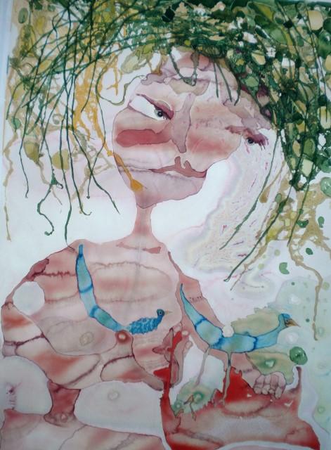 Madame Plupp akvarell 67×95