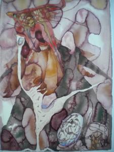 Wooden Gym Member Akvarell 47x62